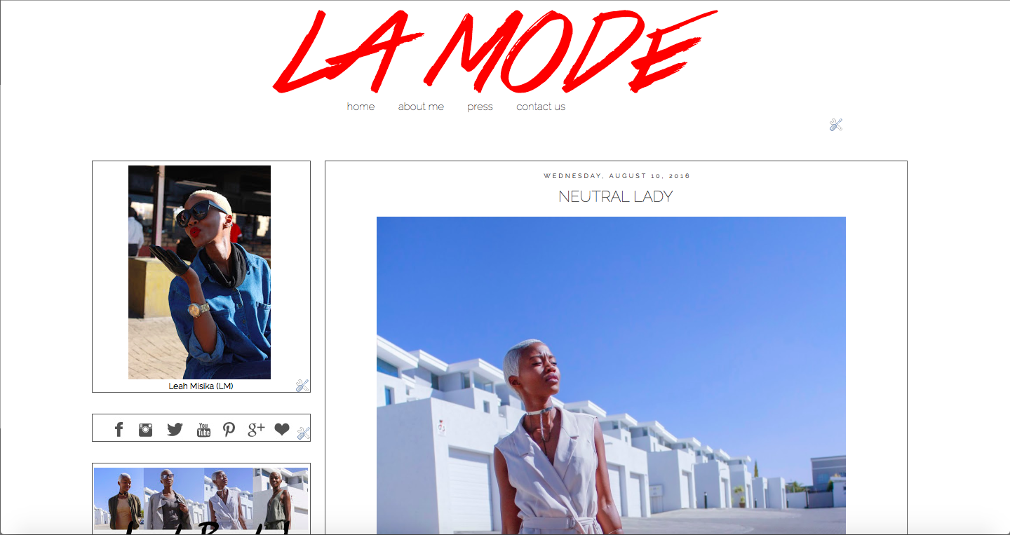 LMF FASHION MARKETING: Our blog is a mixed platform that talks about Leah Misika's Personal style and the brand we have worked with.